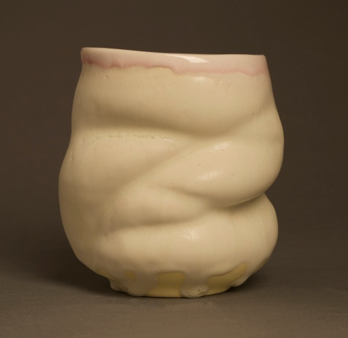 "Slip Cast Porcelain from Original Prototype, 5"" x 4"" x 4"""